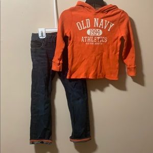 Boys 5T matching set Old Navy hoodie & Gap jeans